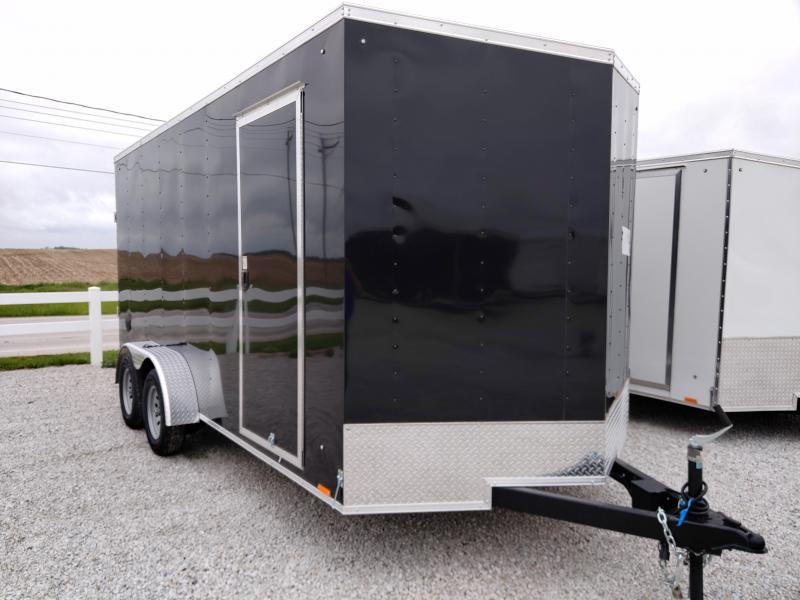 2021 Cargo Express 7X16 Enclosed Ramp Door TA Trailer