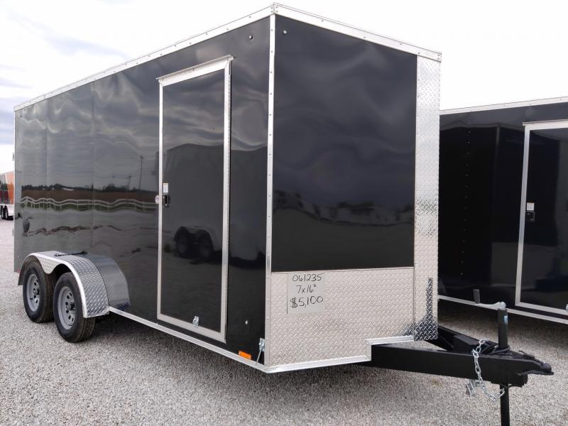 2021 Cargo Express 7X16 Enclosed Ramp Door Trailer