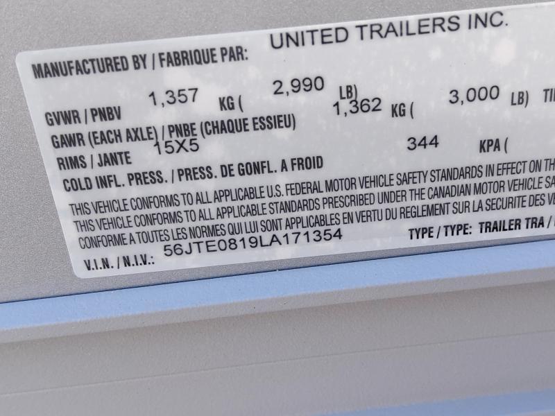 2020 United 5X8 Enclosed Swing Door Trailer