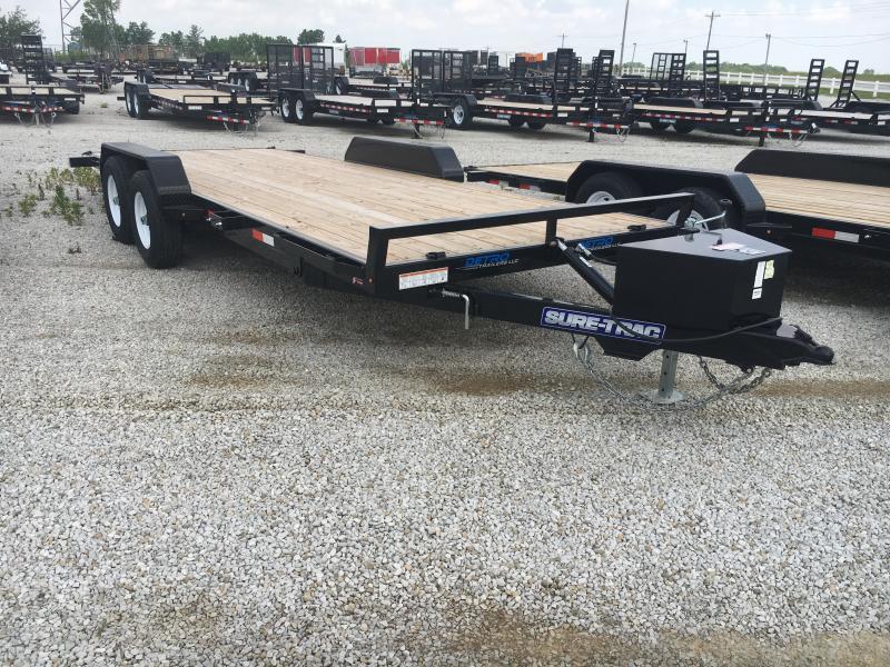 2019 Sure-Trac 7 x 20 Car Hauler Wood Power Tilt  10K