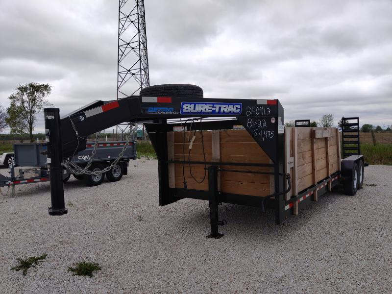 2019 Sure-Trac 7X22 GN 14K Equipment Trailer