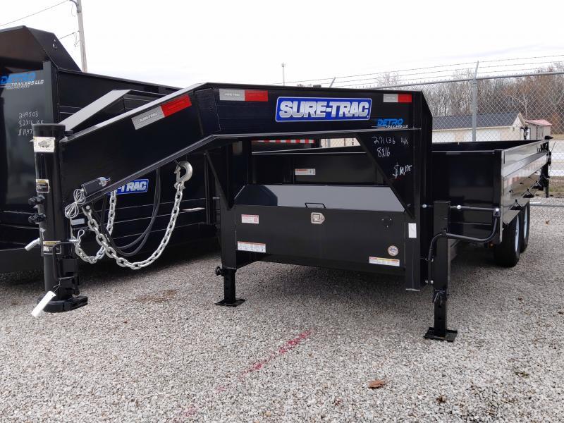 """2019 Sure-Trac 96""""x16' Deckover 14K GN Scissor Dump"""