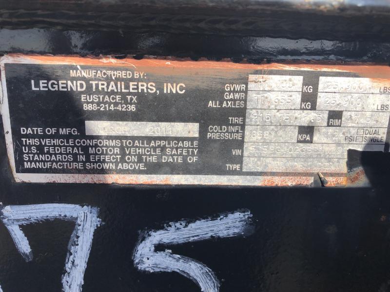 Used 2011 Legend Trailers 35+5 GOOSENECK Flatbed Trailer
