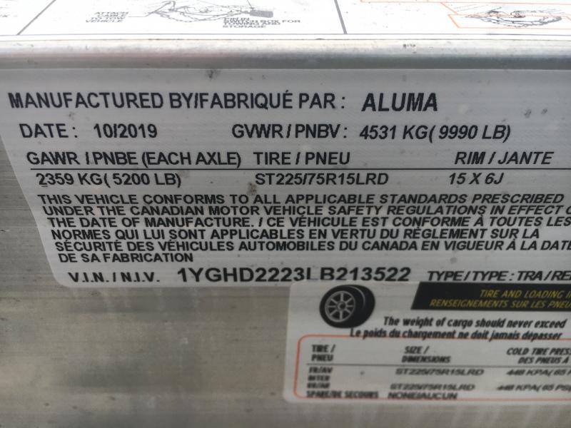 2020 Aluma 8222H-XL Car / Racing Trailer