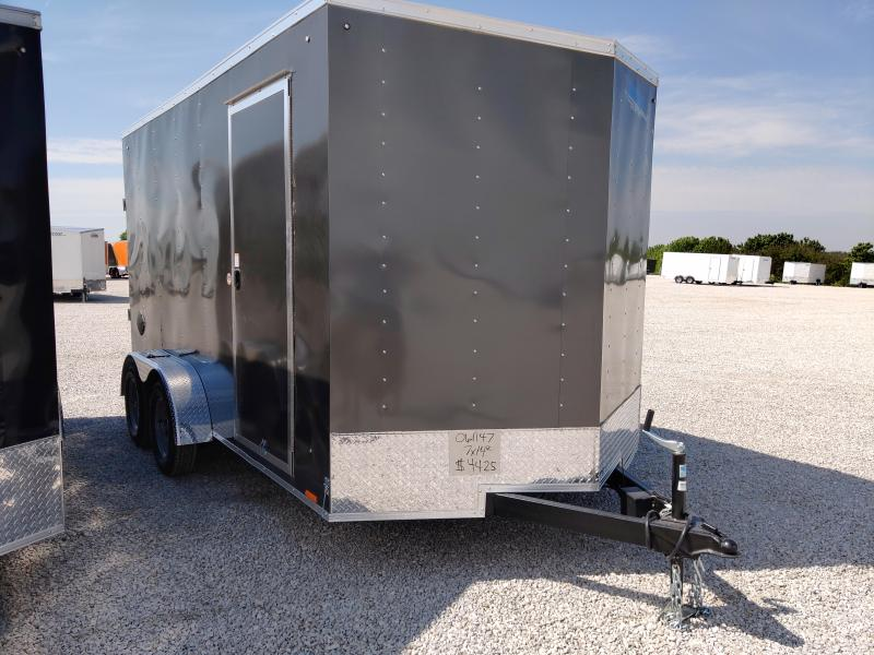 2021 Cargo Express 7X14 Enclosed Ramp Door Trailer