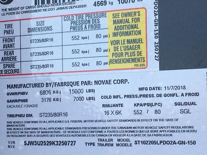 2019 Sure-Trac 8.5x20+5 LowPro Deckover Tandem GN 15K