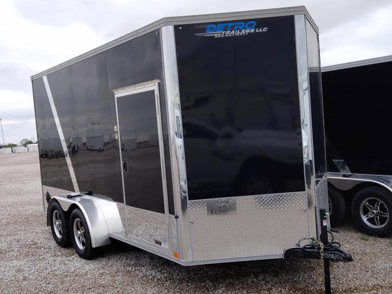 2020 United Trailers 7X14 Black Motorcycle Trailer