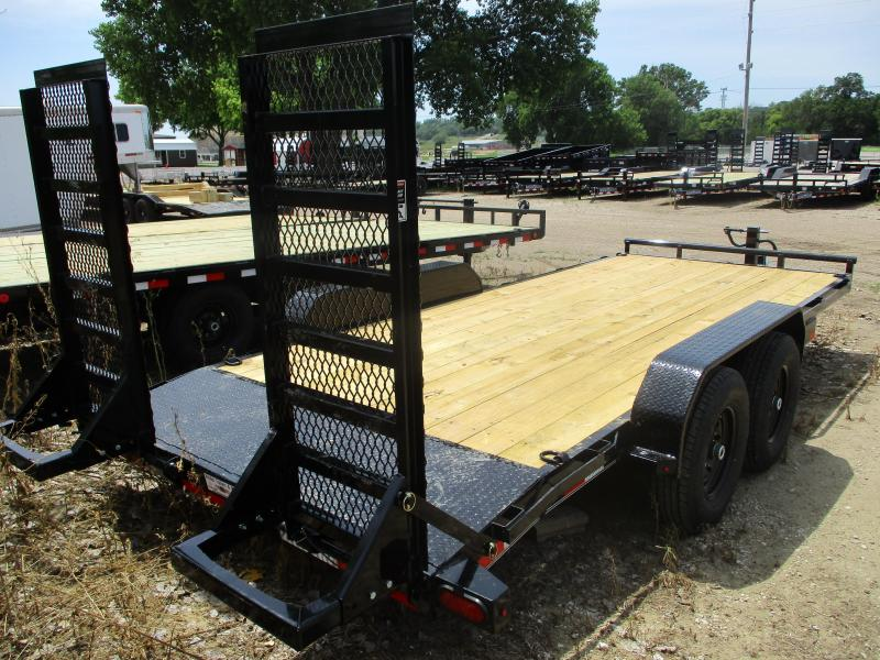 "2019 Lamar Trailers 83""x18' Tandem Axle Equipment Trailer"