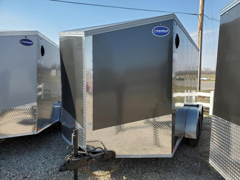 2020 United Trailers 7x12 Tandem Axle Enclosed Cargo Trailer