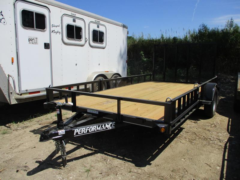 2019 Performance Trailers 83x14 Single Axle Utility Trailer