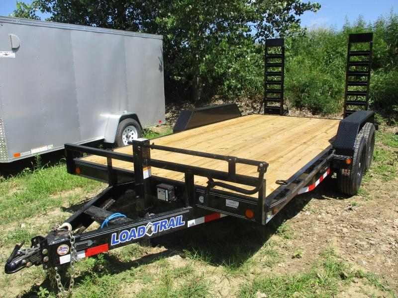 "2018 Load Trail 83""x16' Tandem Axle Carhauler Equipment Trailer"