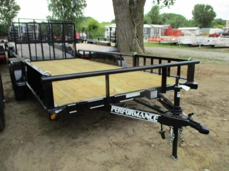 2019 Performance Trailers 83x16 Tandem Axle Utility Trailer