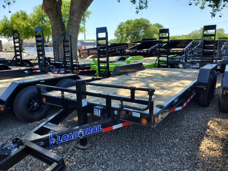 2020 Load Trail 83x18 Tandem Axle Carhauler Equipment Trailer