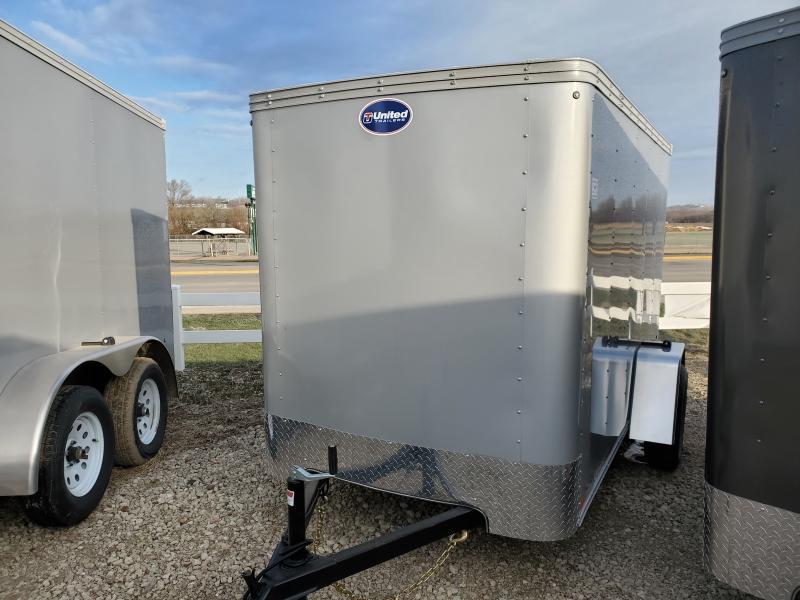 2020 United Trailers 5x10 Single Axle Enclosed Cargo Trailer
