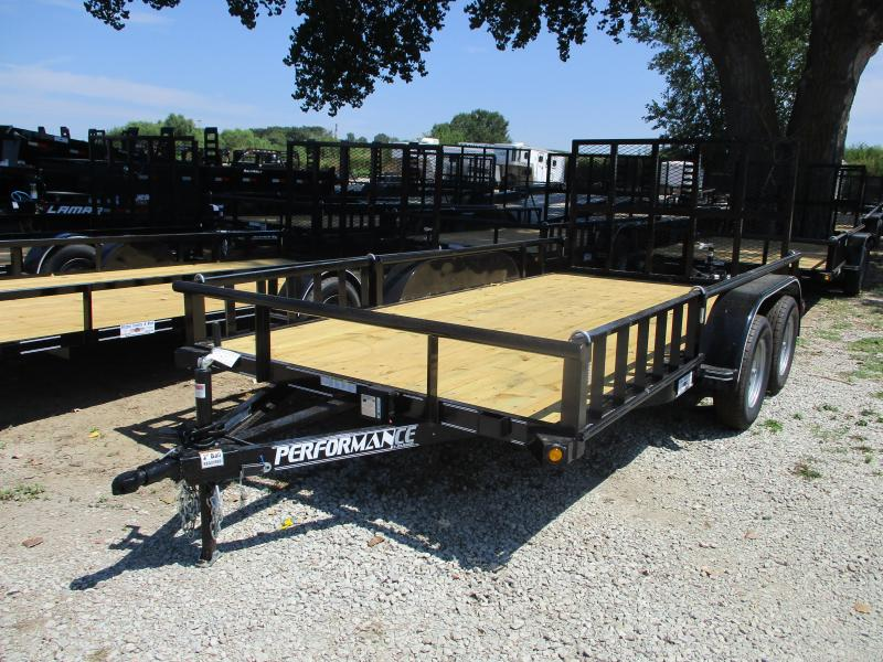 2019 Performance Trailers 83x14 Tandem Axle Utility Trailer