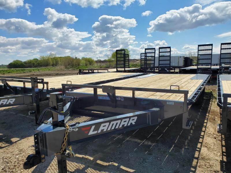 2020 Lamar Trailers 102x22 Tandem Axle Deck Over Equipment Trailer