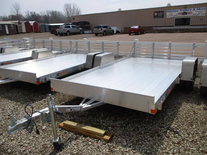 "2019 Bear Track 76""x12' Single Axle Aluminum Utility Trailer"