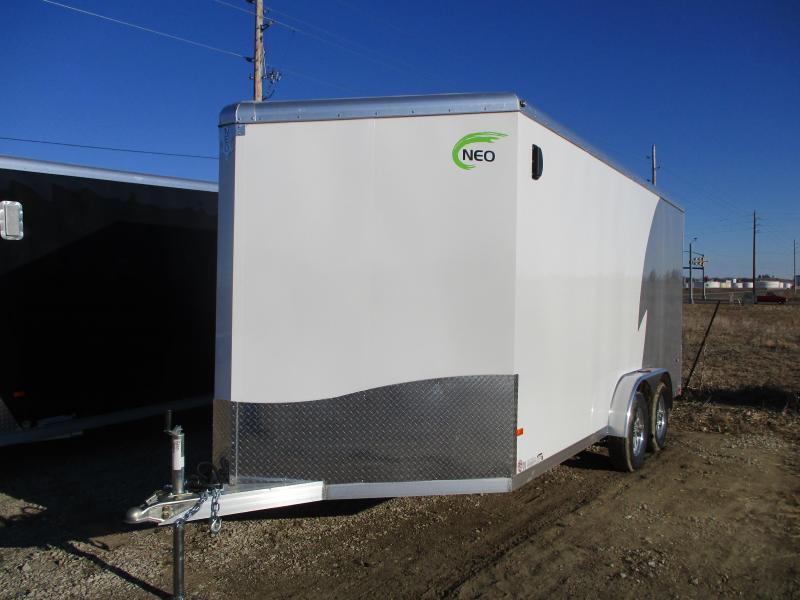 2020 NEO Trailers 7.5x16 Tandem Axle Aluminum Enclosed Cargo Trailer