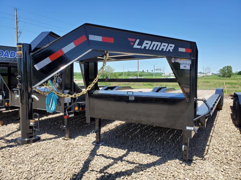 2020 Lamar Trailers 102x32 Tandem Axle Gooseneck Carhauler Equipment Trailer