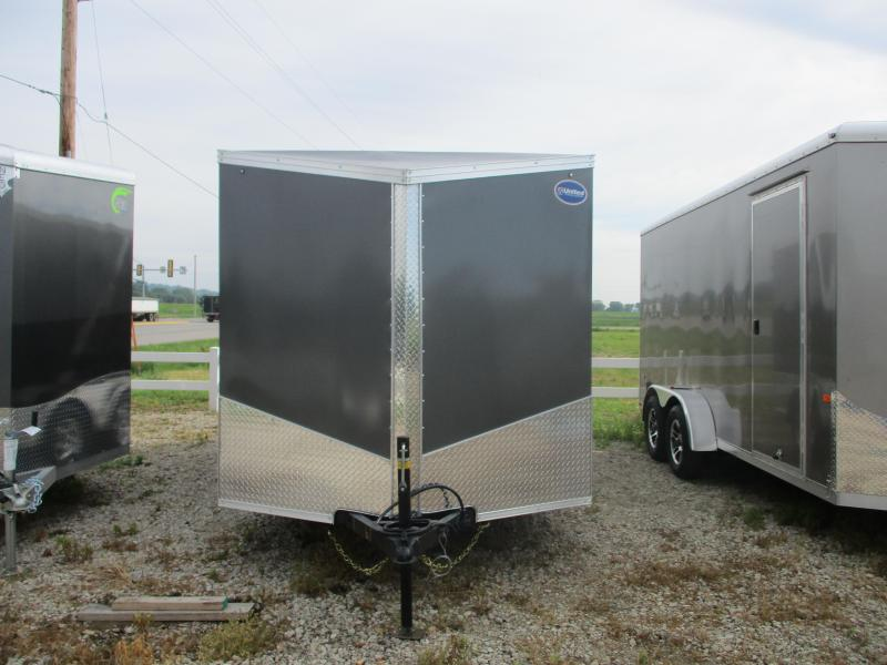 2020 United Trailers 7x16 Tandem Axle Motorcycle Enclosed Cargo Trailer