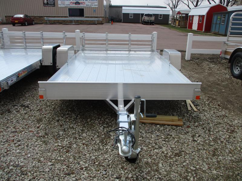 2019 Bear Track Products 82x12 Single Axle Aluminum Utility Trailer