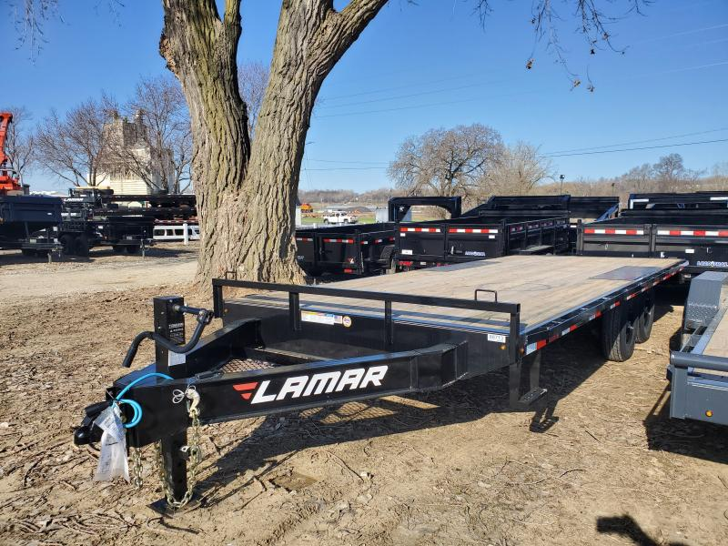 2020 Lamar Trailers 102x20 Tandem Axle Deck Over Flatbed Trailer