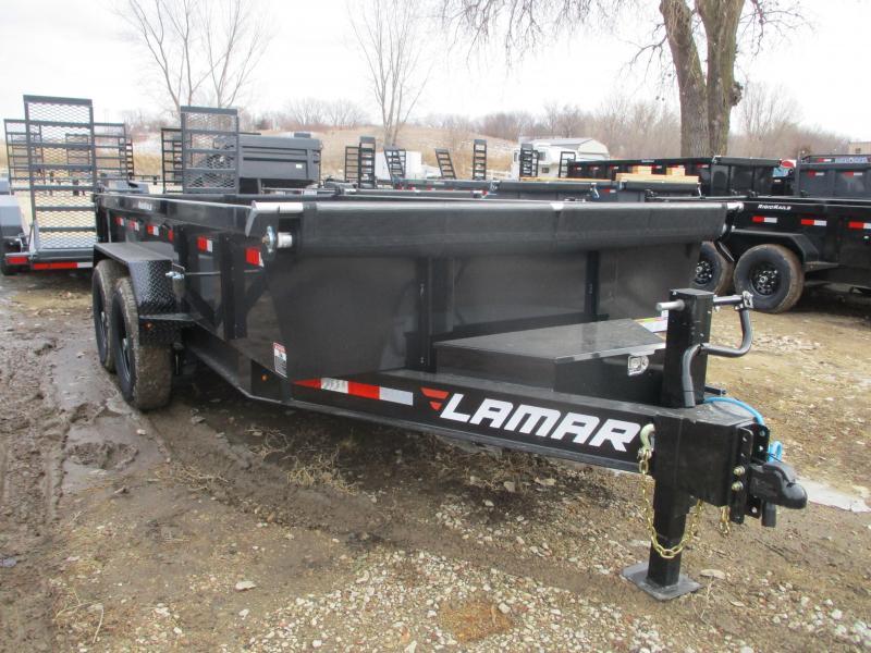 2020 Lamar Trailers 83x14 Low Pro Tandem Axle Dump Trailer