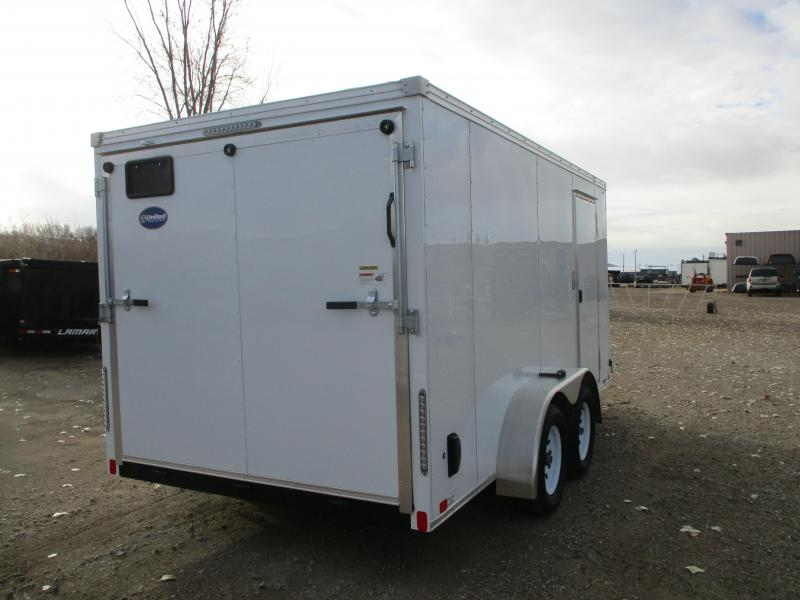 2020 United Trailers 7x14 Tandem Axle Enclosed Cargo Trailer