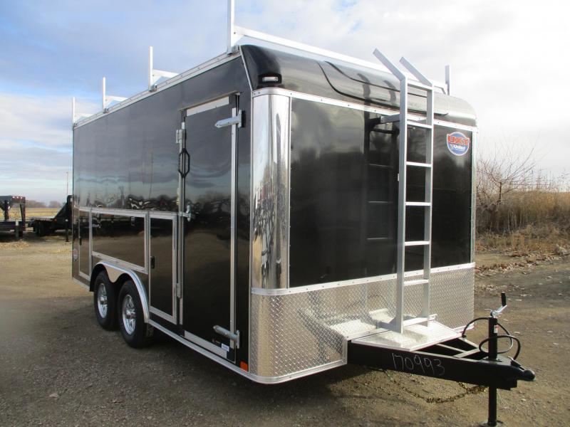 2020 United Trailers 8.5x16 Tandem Axle Contractor Enclosed Cargo Trailer