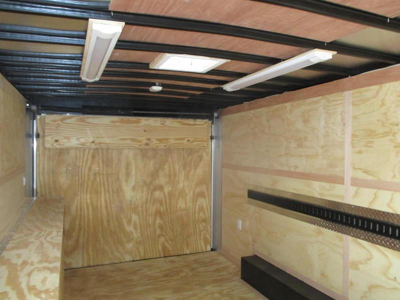 2020 United Trailers 8.5x16 Tandem Axle Contractor Enclosed Cargo Trailer