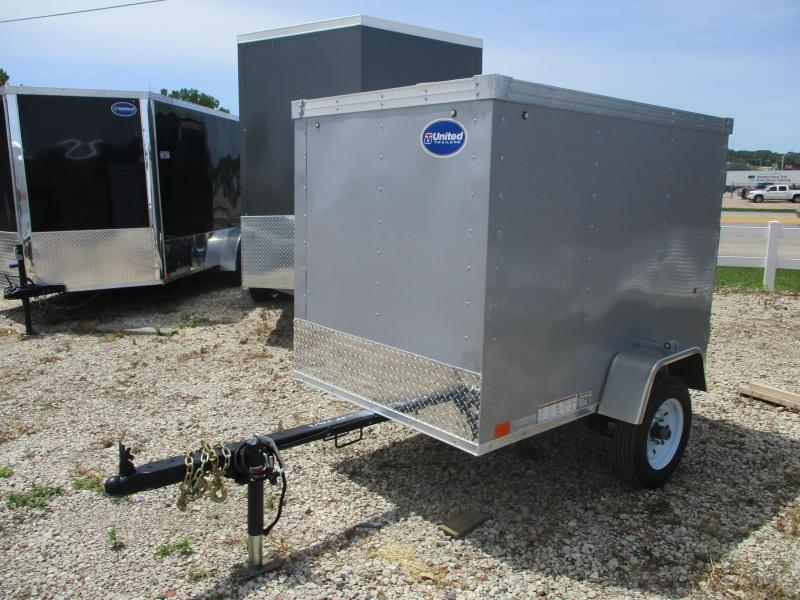 2020 United Trailers 4'x6' Single Axle Enclosed Cargo Trailer