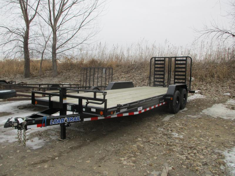 2019 Load Trail 83x22 Tandem Axle Carhauler Equipment Trailer