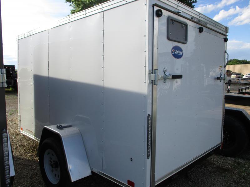 2020 United Trailers 6'x10' Single Axle Enclosed Cargo Trailer