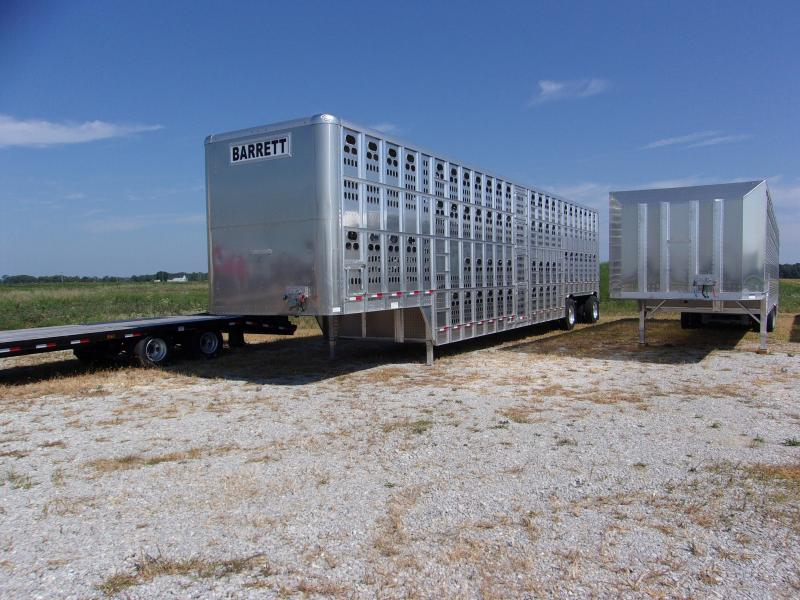 Price Reduced! 2018 Barrett 53' Cattle Pot 10-2 Spread Trailer