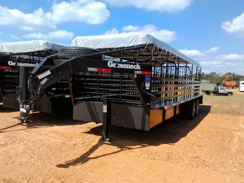 "24'x6'8"" Gooseneck STOCK Livestock Trailer"