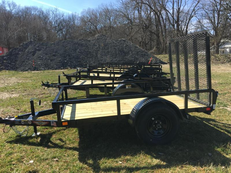 2020 H and H Trailers H6008RS-030 60 x 8 Steel Rail Side 3.5K Utility Trailer