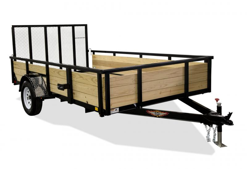 2020 H and H Trailer 76 x 10 Wood Side Utility Trailer