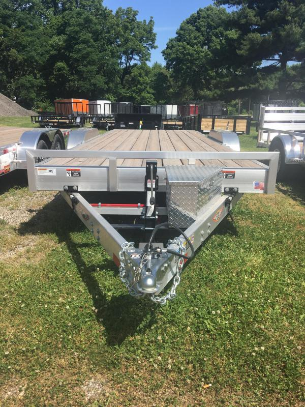 2019 H and H Trailer 82X20 ALUM MANUAL SPEEDLOAD 10K