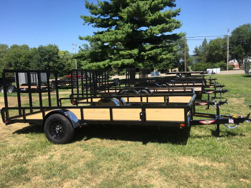 2020 H and H Trailer 82 x 14 Rail Side Utility Trailer