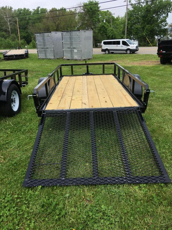 2020 H & H Trailers 82 x 12 + 2 Utility Trailer w dovetail 5K