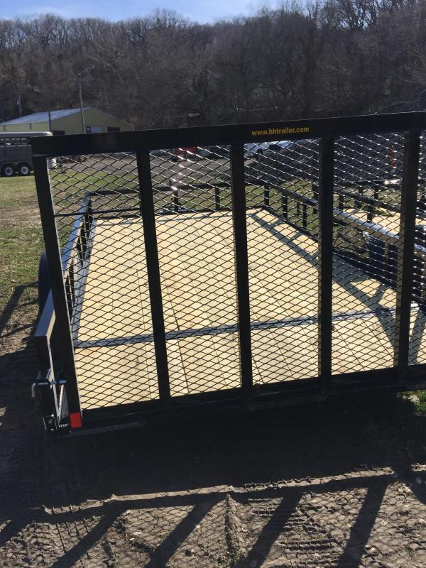 2020 H and H Trailers 82 x 12 + 2 Utility Trailer w dovetail 5K
