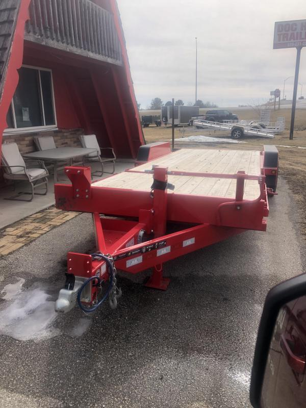 2019 B-B TubeTilt/Partial Tilt 22' (RED) Flatbed Trailer