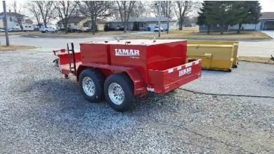 "Lamar 60"" X 10 Farm Boss 990 Fuel Trailer (K1)"