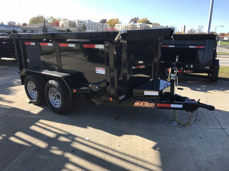 2018 MAXXD Black 5' x 10' Tandem Axle Dump Trailer