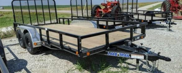 "Load Trail 83"" x 16' Tandem Axle Utility Trailer"