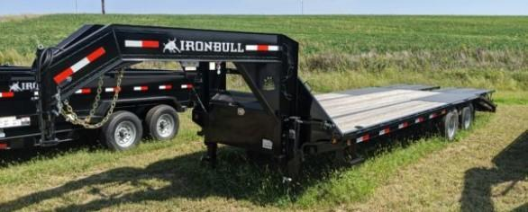 "Iron Bull 102"" x 25' Low-Pro Gooseneck Flatbed Trailer"