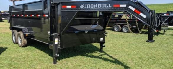 """Iron Bull 83"""" x 16' Gooseneck Dump Trailer"""