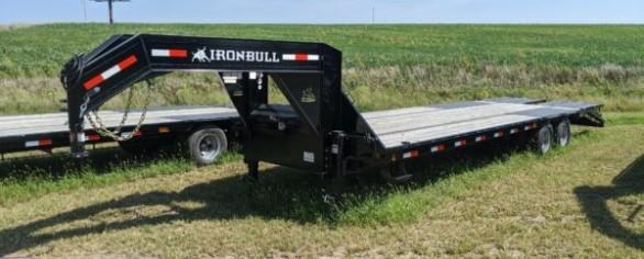 "Iron Bull 102"" x 30' Low-Pro Gooseneck Flatbed Trailer"
