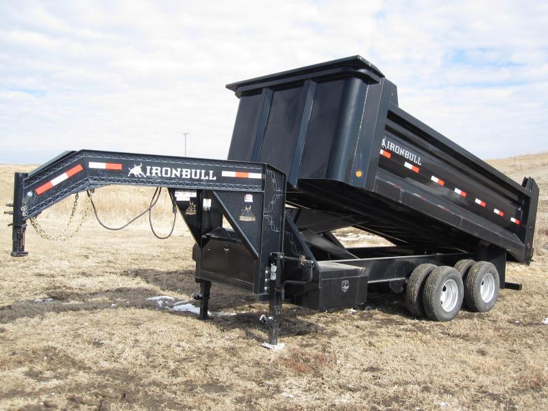 "Iron Bull 96"" x 16' Super Gooseneck Dump Trailer"