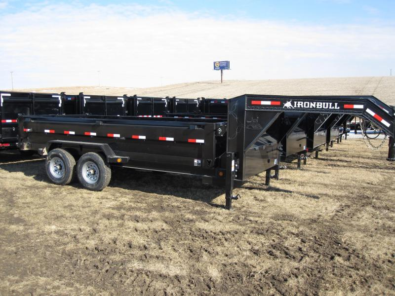 "Iron Bull 83"" x 14' Lo-Pro Gooseneck Dump Trailer"